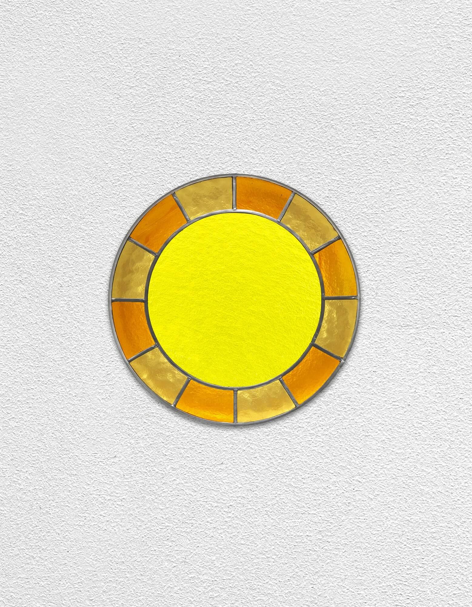 orange orange yellow clock | UGO RONDINONE